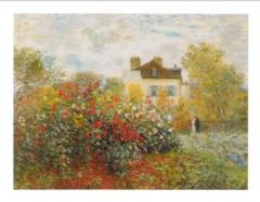 Claude  Monet The artist's garden in Argenteuil